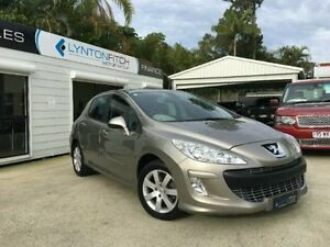 2010 Peugeot 308 T7 XSE Turbo Gold Semi Auto Hatchback Southport Gold Coast City Preview
