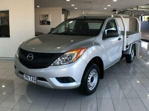 2013 Mazda BT-50 UP0YD1 XT 4x2 Silver 6 Speed Manual Cab Chassis Southport Gold Coast City Preview