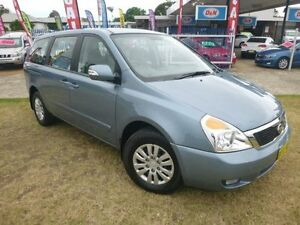 2012 Kia Grand Carnival VQ MY12 S Crystal Blue 6 Speed Automatic Wagon Brownsville Wollongong Area Preview