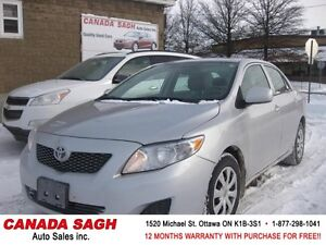 2009 TOYOTA COROLLA  ,AUTO ,LOADED, 12M.WRTY+SAFETY $7990