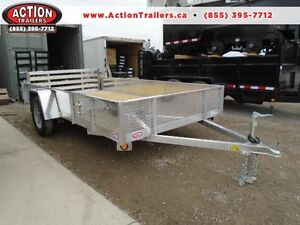 6X12 ALUMINUM UTILITY - SOLID SIDES, BI-FOLD GATE - SPECIAL! London Ontario image 1