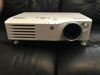 Panasonic PT-AX200E 1080p HD Home Cinema Projector in light grey with 2 HDMI inputs