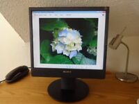 """Sony 17"""" Monitor, adjustable height with integral speakers"""