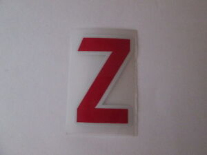 letter-Z-Red-Premier-League-EPL-Football-Shirt-name-set-Sporting-ID-Replica-Size