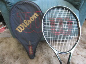 Wilson and Dunlop racquets
