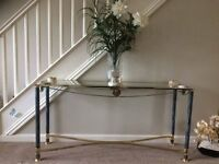 PRETTY CONSOLE TABLE WITH 2 SIDE TABLES
