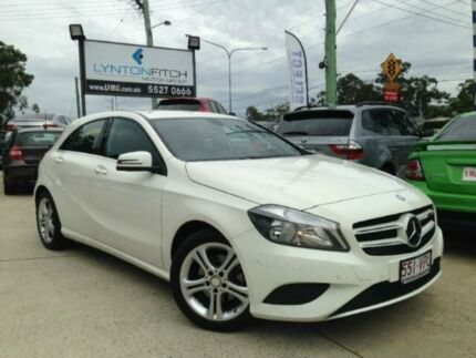 2014 Mercedes-Benz A180 W176 D-CT White 7 SPEED Semi Auto Hatchback Southport Gold Coast City Preview