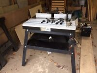 Router Table. Floor standing professional sliding table compatible with all main makes of router.