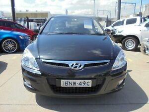 2010 Hyundai i30 FD MY10 SX Black 5 Speed Manual Hatchback Holroyd Parramatta Area Preview