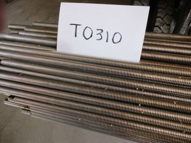 "ALL THREAD ROD  1/2""-13 x 6 ft. Fully Threaded Rod Stainless Steel 316 Plain"