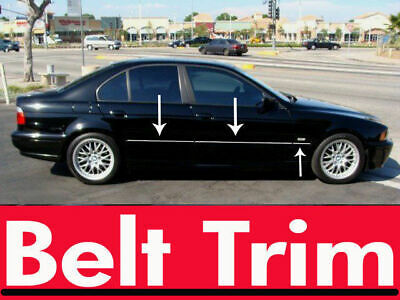 For BMW E39 520 523 525 530 540 Chrome Body Side Molding Trim Kit 1995-2004