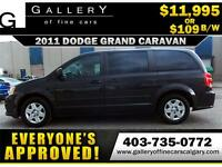 2011 Dodge Grand Caravan SE $109 bi-weekly APPLY NOW DRIVE NOW