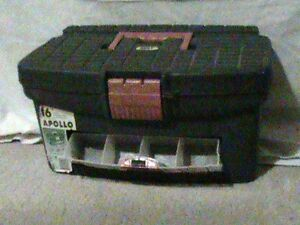 Toolbox with tilt-out tray and pullout tray