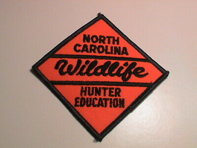 NORTH CAROLINA WILDLIFE SAFE HUNTER EDUCATION GUN HUNTING THICK LETTERS PATCH