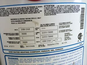 Electric Space Saver Hot Water Heater - 43L. New price - must go Kawartha Lakes Peterborough Area image 3