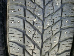 205 55 16 WINTER TIRES WITH STUDS ON KIA RIMS