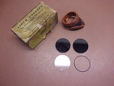 Vintage Airco Weldingcutting Goggles Parts Only 2 Smoked Lenses 1 Clear Plus