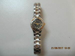 Classic Ladies Bulova Two Tone Gold Divers Ext Watch Circa 1990s