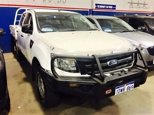 2012 Ford Ranger PX XL 2.2 (4x4) Cool White 6 Speed Manual Crew C/Chas Beckenham Gosnells Area Preview