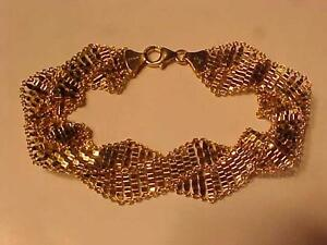 """#1093-14K Y/Gold SILKY FINISHED ITALIAN BRACELET-7 1/4"""" LONG-STUNNING- YOURS FOR JUST $495.00 SHIP CANADA ONLY-EBANK TRA"""