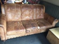 Free to collector Brown Leather Sofa