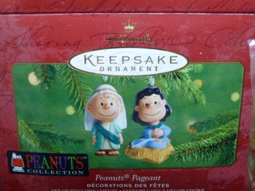 2001 Hallmark Keepsake Ornament Peanuts Porcelain Pageant 2001 NIB
