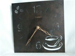 Clock Coffee Time Chaney Battery-operated Metal Wall Mount