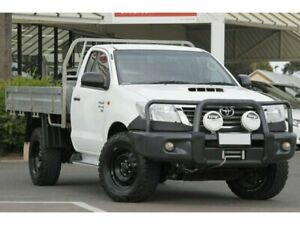 2014 Toyota Hilux KUN26R MY14 SR Glacier White 5 Speed Manual Cab Chassis