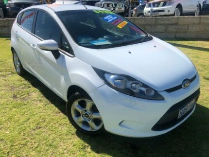 2009 Ford Fiesta WS CL White 5 Speed Manual Hatchback Wangara Wanneroo Area Preview