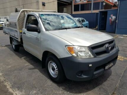 2008 Toyota Hilux TGN16R 07 Upgrade Workmate Silver 5 Speed Manual Cab Chassis Revesby Bankstown Area Preview