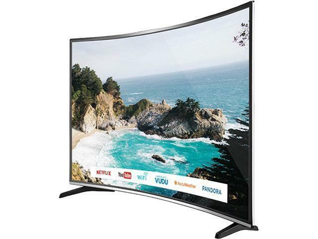 "Bolva 55"" 4K UHD HDR LED Curved Smart TV"