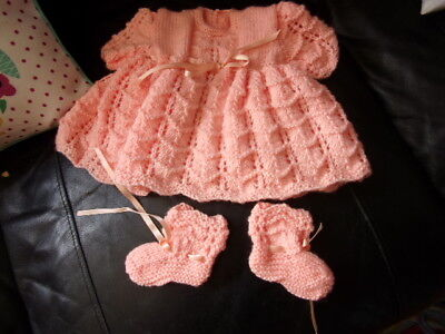 BRAND NEW BABY GIRL DRESS & BOOTTEES AGE 0-6 MONTHS