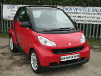 SMART FORTWO 1.0L PASSION 71BHP MHD AUTO 2009 (09) 49K FSH / A/C / PAN ROOF!!!!!