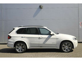 2012 12 Reg BMW X5 3.0TD ,xDrive30d M Sport,WHITE WITH BLACK LEATHER,FULL SPEC