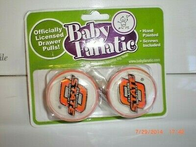 Pair of Oklahoma State Cowboys NCAA College BABY FANATIC Drawer Cabinet Pull (Oklahoma Drawer Pulls)