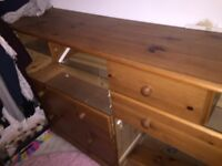 FREE Large Pine Chest of Drawers PLEASE COLLECT TODAY BANSTEAD AREA