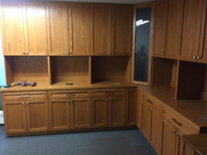 Garage Cabinets: Second Hand Solid Wood-OBO