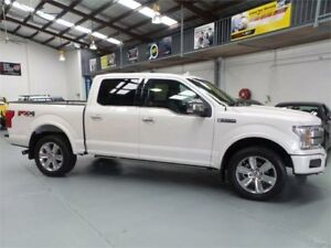 2018 Ford F150 Platinum 3.5 Litre Ecoboost Platinum White 10 speed Automatic Super Crew Utility Seven Hills Blacktown Area Preview