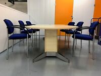 Office Meeting Table & 8 Chairs