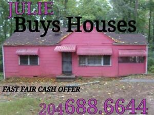 JULIE BUYS HOUSES fast close get paid CASH