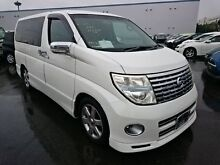 2005 Nissan Elgrand 2 Highwaystar White 5 Speed Automatic Wagon Southport Gold Coast City Preview