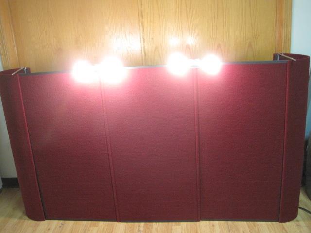 FEATHERLITE PANEL DISPLAY BOOTH PANEL TRADE SHOW EXHIBIT W/ CASE & LIGHT 306804