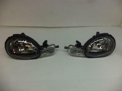 00-02 Dodge Neon Euro Style Crystal Headlights + Bumper Lens - Black H5LP Dodge Neon Crystal Headlights