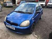 2003 Toyota Yaris diesel, being sold as spares or repair, alternator gone, engine is perfect, car lo