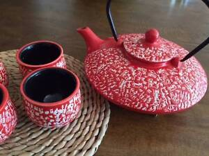 Red teapot & cups set - Japanese style - NEW Mosman Mosman Area Preview
