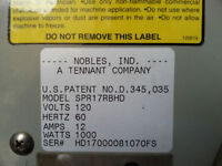 NOBLE by Tennant Floor Machine Like New