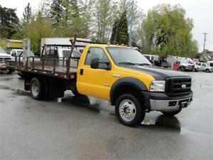 2006 FORD F-450 SUPER DUTY REGULAR CAB DUALLY FLAT DECK DIESEL