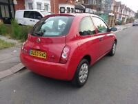 PERFECTLY RUNNING NISSAN MICRA 1L 3dr RED 2003 FULL SERVICE HISTORY not Clio, Fiesta, fiat