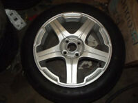 NEW 16 INCH ALLOY WHEELS AND TYRES 4 STUD 100 MM PCD MG ROVER VW VAUXHALL FIAT BMW Mini MG3