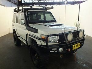 2012 Toyota Landcruiser VDJ76R MY12 Update GXL (4x4) Glacier White 5 Speed Manual Wagon Clemton Park Canterbury Area Preview
